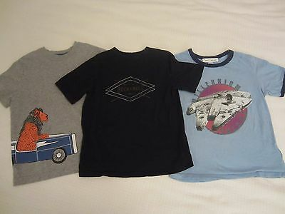 Lot of 3 Boys T-Shirts Hanna Andersson GapKids Sz Small Graphics Short Sleeve