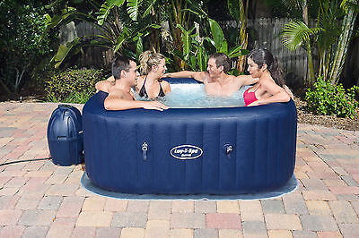 Lay-Z-Spa Hawaii Airjet Square Inflatable Portable Hot Tub Spa, 4-6 Person