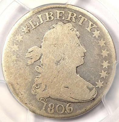 1806/5 Draped Bust Quarter 25C - PCGS VG Details - Rare Overdate Certified Coin