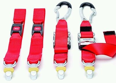 wheelchair restraints four point webbing system with karabiner for unwin