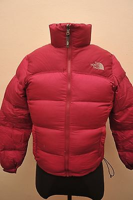 North Face Womens Small Goose Down 700 Jacket Dark Pink / Cerise Gc52
