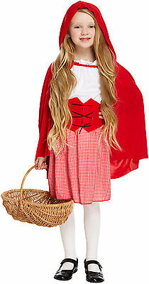 Kids Little Red Riding Hood Girl Childrens Fancy Dress Costume Book Week Outfit