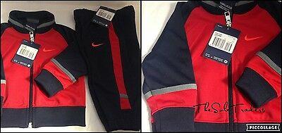 Infant Nike T45 Full Tracksuit Red/Navy 678819 657 Size: UK 6-9 Months