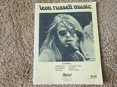 Leon Russell music - sheet music song book - RARE 70's
