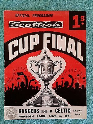 1963 - SCOTTISH CUP FINAL PROGRAMME - RANGERS v CELTIC