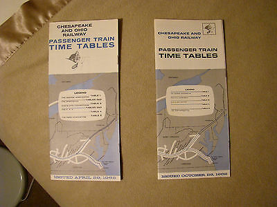 Chesapeake & Ohio Timetables - April and October 1962