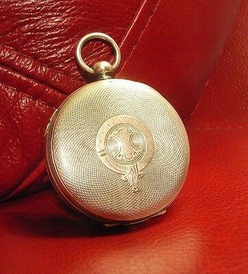 Antique Solid Silver  Centre Seconds Dr's Watch   Pocket Watch Serviced  C'1890
