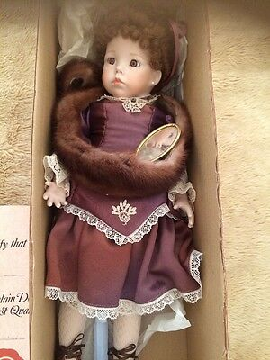 Porcelain Doll With Certificate 1992 Hand Made