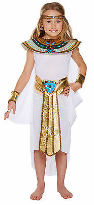 Egyptian Girl Cleopatra Kids Fancy Dress Costume Child Book Week Outfit Age 7-12