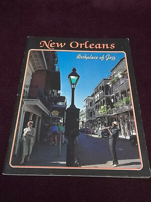 New orleans Birthplace Of Jazz Paperback Book Tourist Souvenir History & Culture