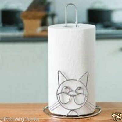 Cat Kitchen Paper Towel Roll Holder New