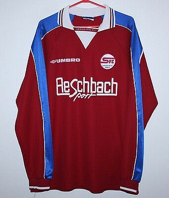 Rare Servette FC match worn or issue shirt 98/99 #16 Swiss long sleeves Umbro
