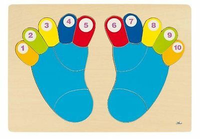 Wooden Feet Board Children's Fun Educational Learning Counting Toy Puzzle Board