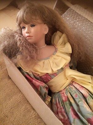 Hand Made Porcelain Doll 26 Inch