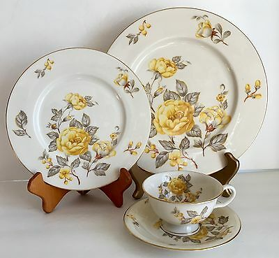 4 Pcs Castleton China Mayfair Pattern Dinner Plate, B & B, Teacup & Saucer EXC!!