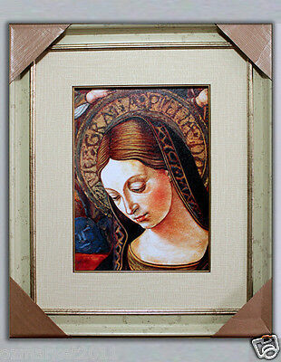 Catholic Church Portrait Jesus Cross Christian Blessed Cloth Delicate Frame D