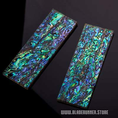 "6mm Natural Abalone w/ Acrylic Knife Handle Scales 5.00""x1.75"" {ABOC}"