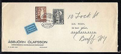 Iceland #206 1939 40c on Commercial Cover to US 1945 a956