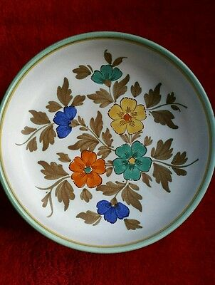 Stunning vintage hand painted Flora Gouda Holland large Tazza/type Bowl