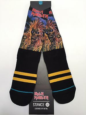 STANCE IRON MAIDEN Socks New! Legends of Metal Eddie number of the beast Large