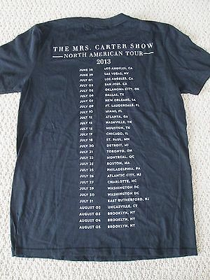 Authentic Beyonce The Mrs Carter World Tour Merch Tour Date City Tee Shirt Sz M