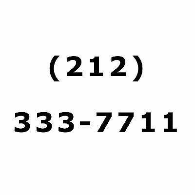 NYC Vanity Easy 212 AREA CODE PHONE NUMBER For Sale Manhattan New York City