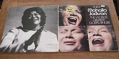 This is MAHALIA JACKSON - The Worlds Greatest Gospel Singer - 2 x LP - FOC