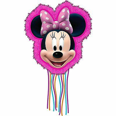Minnie Mouse Pull Ribbon String Pinata with Plastic Hook Party Decoration - Gift