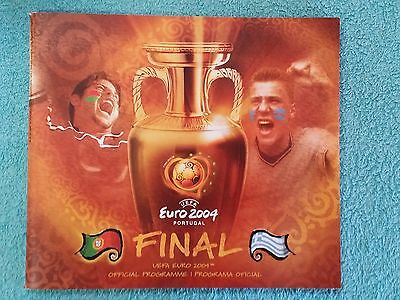 2004 - EURO CHAMPIONSHIP FINAL PROGRAMME - PORTUGAL v GREECE