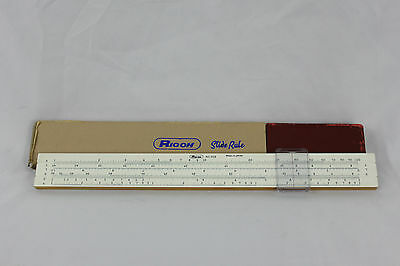 Vintage 1960's Ricoh Slide Rule No.102 Made in Japan w/ Box