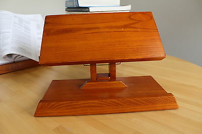 Solid Wood Book Rest - Book Holder- Portable Book Stand Any Book Size & Weight