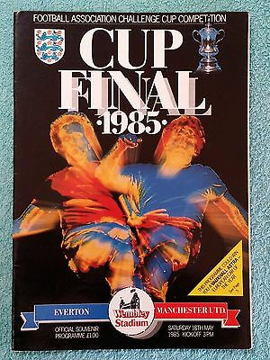 1985 - FA CUP FINAL PROGRAMME - EVERTON v MANCHESTER UNITED