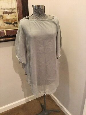 1d82c75c33 C4- NWT ELAN Beach Blue Sheer Bat Wing Cover Up Size S MSRP $44 ...