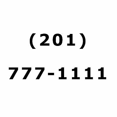 New Jersey Easy Vanity AREA CODE 201 PHONE NUMBER Double Repeater NJ Near 212