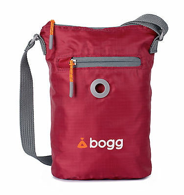 bogg - Dog walkers bag. Poo bag dispenser & waste carrier | holder | roll | red