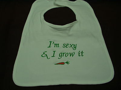 Giant adult bib sexy gardener fun ideal for elderly disabled