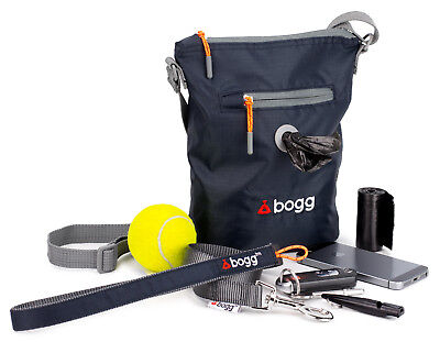 bogg - Dog walking bag. Poo bag dispenser & waste carrier | holder | roll | grey