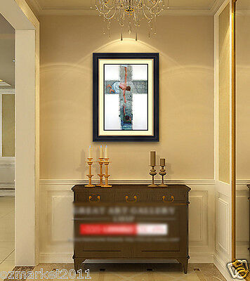 Catholic Church Portrait Jesus Cross Christian Blessed Glass Frame Decoration B