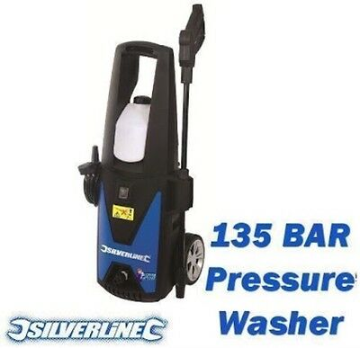New Silverline 135 Bar 1400W Jet Washer / Pressure Washer.
