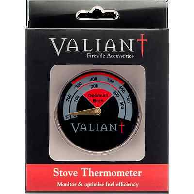 Valiant Stove Temperature Gauge FIR116 Thermometer Flue Pipe Magnetic Woodburner