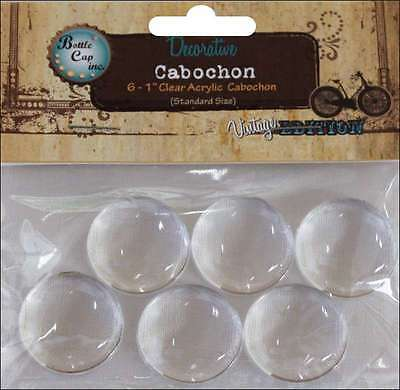 Vintage Collection Acrylic Cabochons 1 Inch 6/Pkg 609465590394