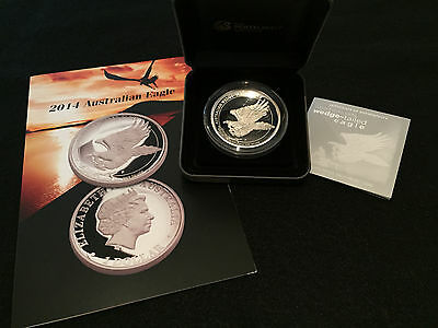 2014 P Australian 5 oz High Relief Wedge Tailed Eagle