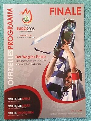 2008 - EURO CHAMPIONSHIP FINAL PROGRAMME - GERMANY v SPAIN - German Language Ed