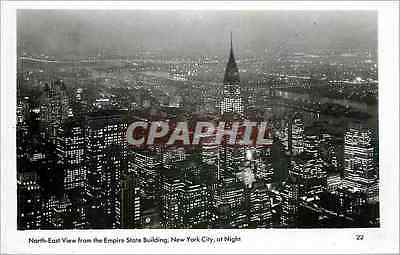 CPA North East View from the Empire State Building  New York City at night