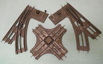 1920-30's Standard Gauge Pr of Dorfan Manual Switches & 1 crossover