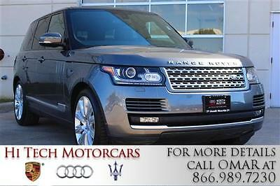 2015 Land Rover Range Rover Supercharged Sport Utility 4-Door 2015 Land Rover Range Rover Supercharged V-8 5.0L 4WD