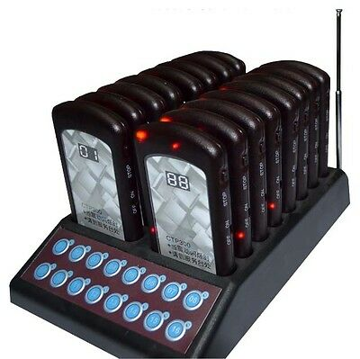 16 Restaurant Coaster Pager / Guest Wireless Paging Queuing System