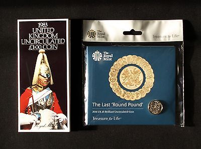 The First And Last Round Pound Coins Sealed Brilliant Uncirculated