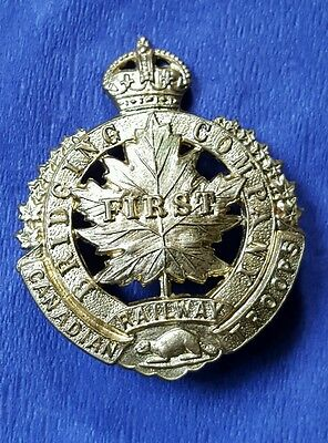 First Bridging Company Canadian Railway Troops Cap Badge