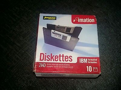 imation IBM Formatted 2HD 1.44mb diskettes 10 pack
